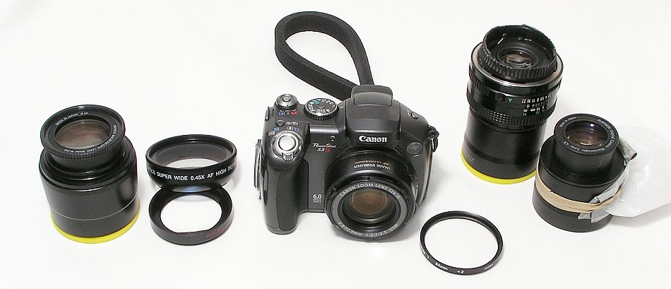 Canon S3 and Various Close-Up/Macro Lenses